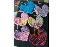 Knitted hearts & Christmas trees