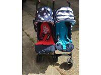 Cosatto Supa Dupa Twin Stroller - Sis N Bro 4