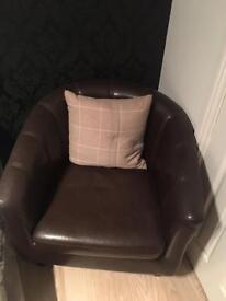 Cube brown chair