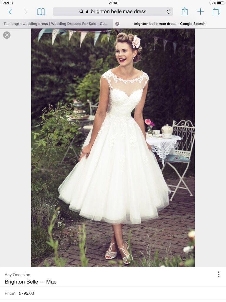 Brand new Brighton Belle Mae tea length wedding dress size 16 bust ...