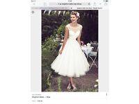 "Brand new Brighton Belle Mae tea length wedding dress size 16 bust 41 waist 33 hips 44"" with tags"