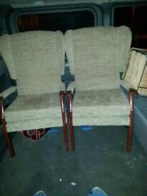 2x high back chairs