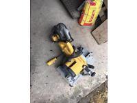 Dewalt mitre saw and dewalt circler saw