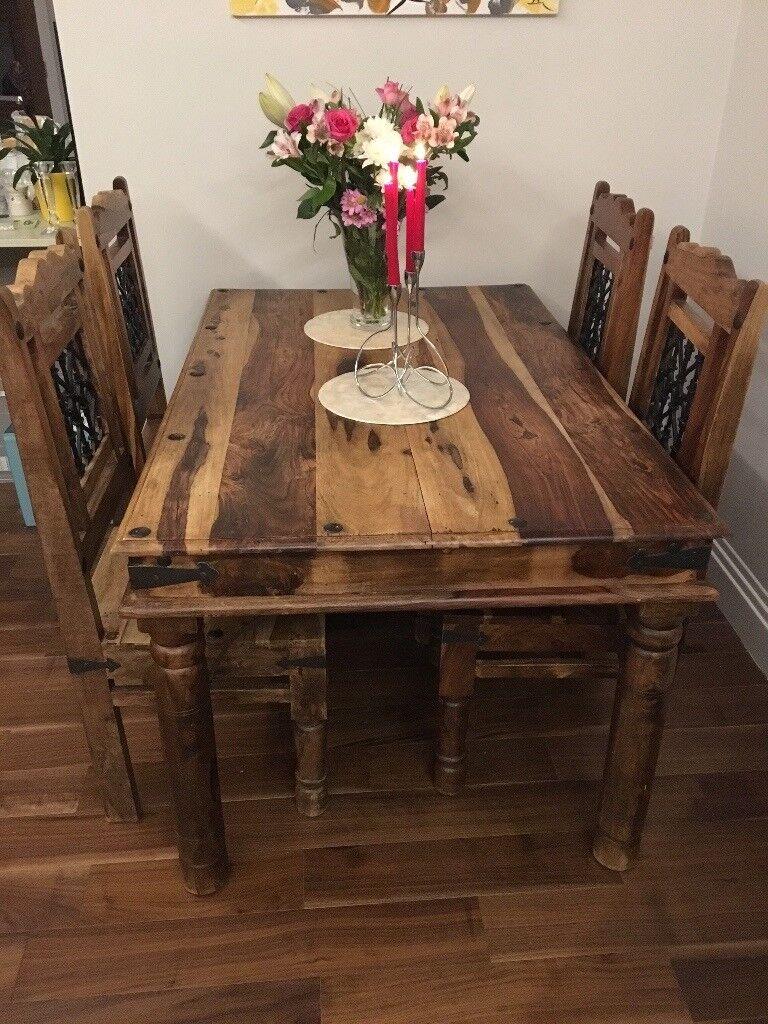 John Lewis Maharani dinning table and 4 chairs