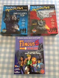 Three Enid Blyton's Famous Five Mystery Jigsaw Puzzle Games