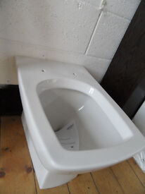 back to the wall toilet pan new