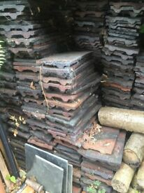 Reclaimed red clay roof tiles, approx 1200pcs
