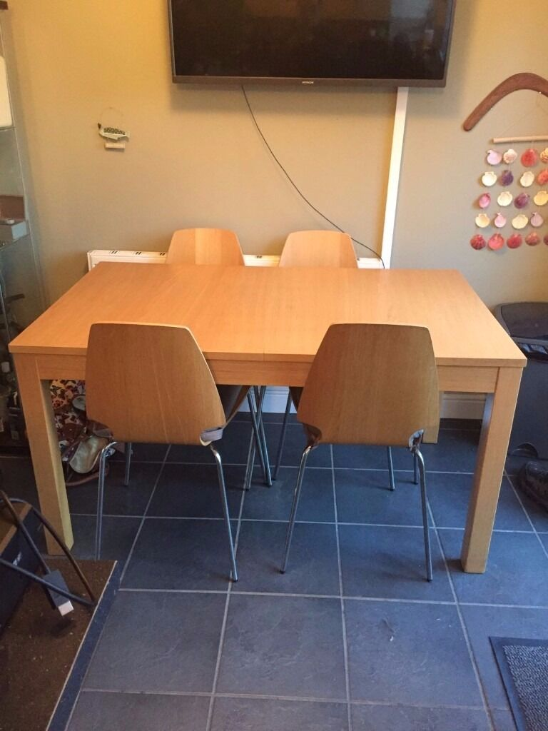 ikea bjursta oak effect dining table and chairs in lostock hall