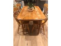 Dining Table With 4 Chairs (Wooden)