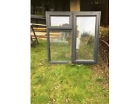 Double glazed window Anthracite wood grained