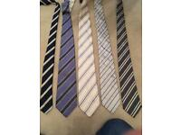 5 blue grey stripy ties