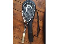 HEAD Squash racket with case, squash balls & new grip