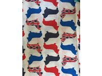 New Corgi fabric - fat quarter material bunting pet dog cushion bed chair