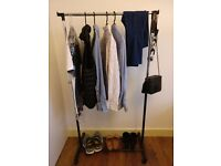 Clothes Rail - Black, Adjustable (GOING AWAY SALE) ***SOLD***