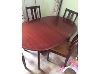 Dining table and chaira