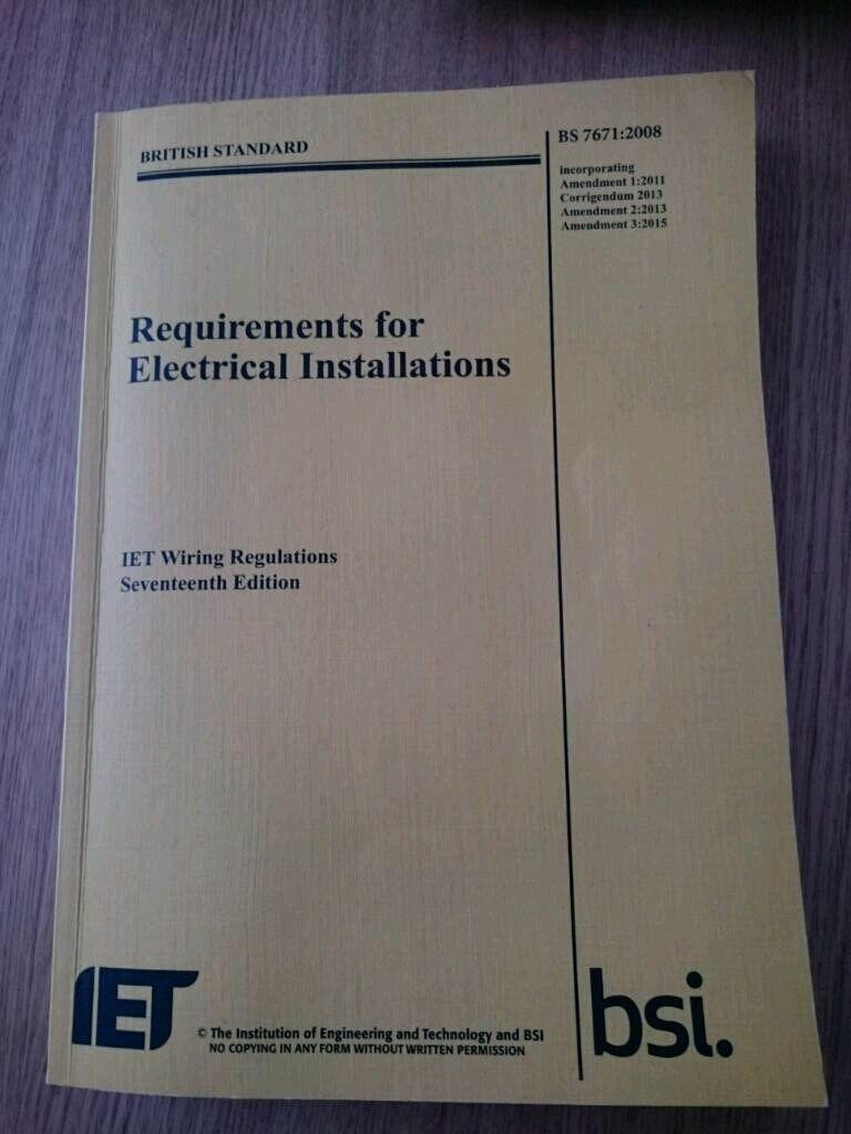 Iet Wiring Regulations 17th Edition In Brighton East Sussex Amendment 1