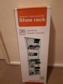 Over the door shoe rack
