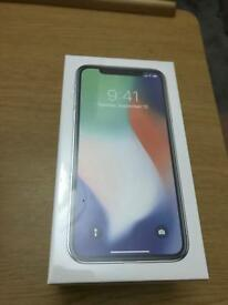 Apple iPhone X - 256GB - Silver (Unlocked) Smartphone - Brand New and Sealed