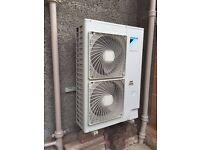 16KW DAIKIN AIR SOURCE TO WATER HEAT PUMP HEATING SYSTEMS MANUFCTURED 11/2012