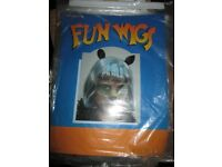 GREY FANCY DRESS WIG WITH CAT EARS GREAT FOR WORLD BOOK DAY