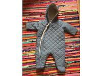Mothercare baby pram suit / coat 1-3 months unisex