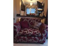 Cuddle Chair with 2 Cushions - Maroon