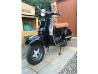 Vespa PX125 Black Standard 125 MINT CONDITION