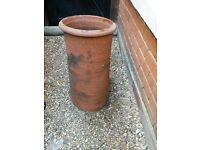 Reclaimed Terracotta Chimney / Plant Pot / Ornament
