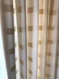 Handmade Cream Triple Pinch Pleat Curtains (140 x 98 inches)