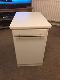 2 x White Bedside Tables
