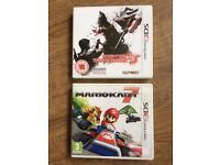 2 Nintendo 3ds games / Mariokart & resident evil 3D