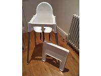 White ikea high chair