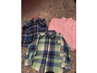 3 boys designer shirts in very good condition - age 6. Collect Dumbarton