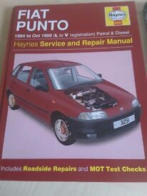 Haynes Service and Repair Manual Fiat Punto 1994 to Oct 1999 (L to V reg)