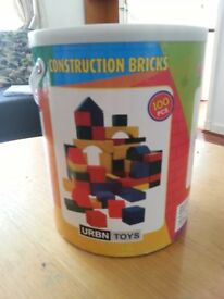 Construction bricks, pack of 100