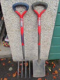 Spear & Jackson Select Stainless Digging Fork & Spade Set