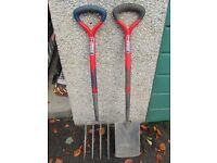 Spear & Jackson Select Stainless Digging Fork & Spade Set