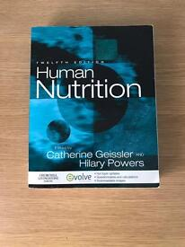 Human Nutrition, 12th edition, by C. Geissler and H. Powers