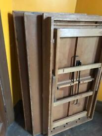 Wooden tressels