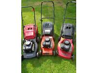 3x petrol mowers 1st has now SOLD