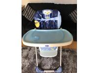 Chicco reclining high chair - excellent condition.