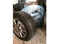 3 Alloy Wheels and Tyres - 205/60/R15 in very good condition.
