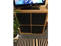 Ikea kallax wood effect shelving and drawers