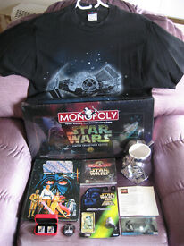 STAR WARS Vintage Memorabilia Items from 1978-1997, Annual, T-Shirt , etc.. Superb!