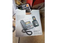 Corded and cordless home telephone with answer machine