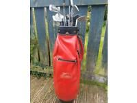 Golf Clubs with Retro bag