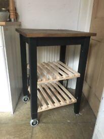 Kitchen storage table/trolly