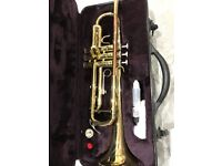 Trumpet, hard case and 2 music books