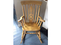 Large Solid Wood Rocking Chair £20