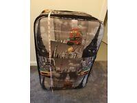 Large suitcase, London, Paris, New York theme
